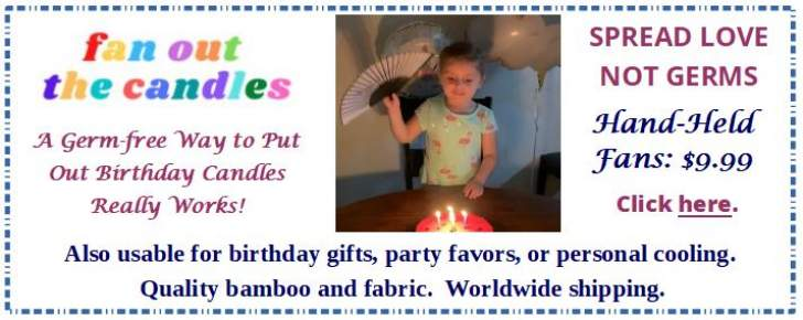 Advertisement for Fan Out The Candles