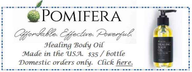 Advertisement for Pomifera Healing Body Oil